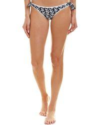 MILLY Cabana Enna Bikini Bottom - Blue