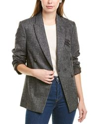 Brunello Cucinelli Double-breasted Wool & Cashmere-blend Jacket - Gray