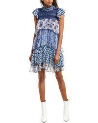 Diane von Furstenberg Matilda Silk-chiffon Ruffle Dress - Blue