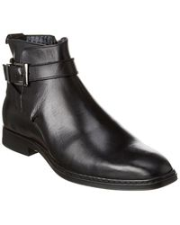 Karl Lagerfeld - Side Buckle Leather Boot - Lyst