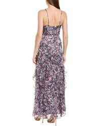 Parker Black Barcelo Silk-blend Gown - Purple