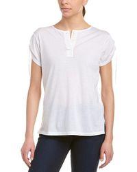 Helmut Lang - Cinched Sleeve Cashmere-blend Henley Shirt - Lyst