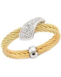 Alor Classique 18k & Stainless Steel Diamond Ring - Metallic