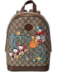 Gucci X Disney Small GG Supreme Canvas & Leather Backpack - Multicolor