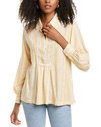Max Studio Cuffed Shirt - Yellow