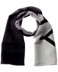 Givenchy Degrade Wool & Silk-blend Scarf - Black