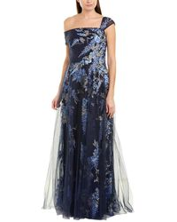Teri Jon By Rickie Freeman Gown - Blue