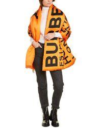 Burberry Horseferry Print Silk Scarf - Orange