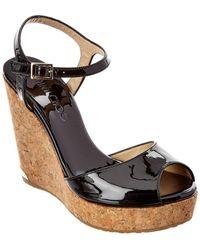 Jimmy Choo Perla 120 Patent Wedge Sandal - Multicolor
