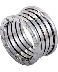 BVLGARI B.zero1 Four-band Stainless Steel Ring - For Women - Metallic
