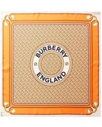 Burberry Montage Print Silk Square Scarf - Multicolour