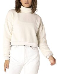 Beyond Yoga All Time Cropped Pullover - White