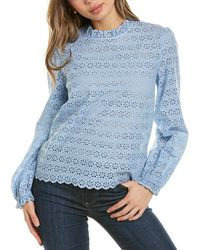 Brooks Brothers - Eyelet Top - Lyst