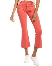 FRAME Denim Le Bardot Cherry Crop Flare Leg - Red