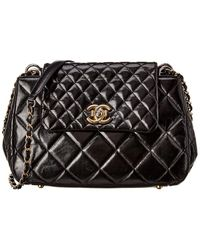 Chanel Black Quilted Patent Leather Crossbody