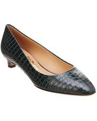 Ferragamo - Croc-embossed Leather Pump - Lyst