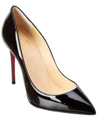 4b10c3c87bf Lyst - Christian Louboutin Pigalle Patent Leather Heels in Black