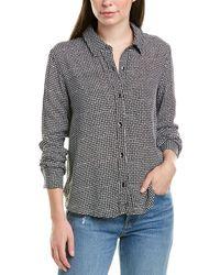 Splendid Pointed Collar Button Down Shirt - Black