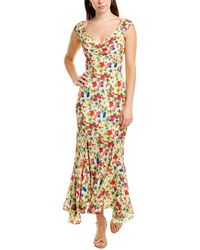 Saloni Daphne Silk Maxi Dress - Multicolor