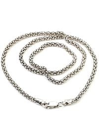 Samuel B. Silver Popcorn Chain Necklace - Metallic