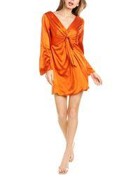 Cinq À Sept Celan Silk Mini Dress - Orange