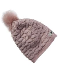 UGG Cable Pom Wool-blend Hat - Pink