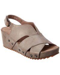 Antelope 536 Leather Wedge Sandal - Gray