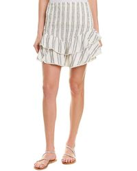 Sage the Label Theory Mini Skirt - White