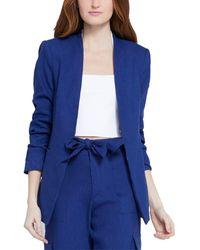 Alice + Olivia Jerri Collarless Cashmere-blend Blazer - Blue