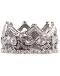 Armenta - New World Silver 1.30 Ct. Tw. Diamond & Sapphire Ring - Lyst