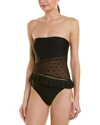 Ella Moss Meshed Up One-piece - Black