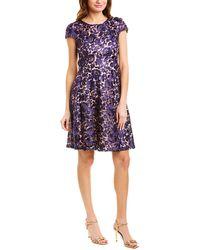 Marina A-line Dress - Purple
