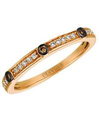 Le Vian ? Chocolatier? 14k Strawberry Gold 0.14 Ct. Tw. Diamond Ring - Metallic