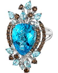 Le Vian ? 14k 11.48 Ct. Tw. Blue Topaz & Smokey Quartz Ring