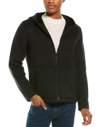 Vince Zip Front Hooded Cashmere & Wool-blend Jacket - Gray