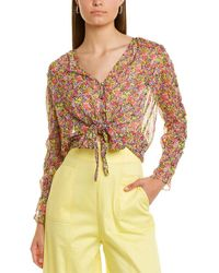 The East Order Tie-front Top - Pink