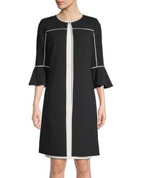 Calvin Klein Classic Bell-sleeve Topper - Black