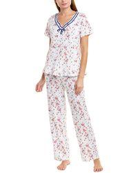Carole Hochman - 2pc Pajama Top & Pant Set - Lyst