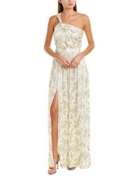 Rachel Zoe Bella Silk-blend Gown - Metallic
