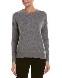 Quinn Rib-trim Cashmere Sweatshirt - Grey