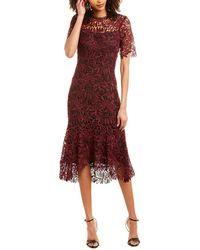 Shoshanna Sheath Dress - Red