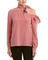 Nicole Miller Artelier Silk Top - Pink