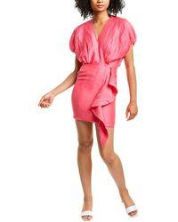 Ronny Kobo Zoey Linen-blend Mini Dress - Pink