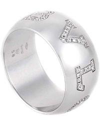 bvlgari bulgari monologo 18k 090 ct tw diamond ring lyst