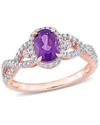 Rina Limor - 10k Rose Gold 1.13 Ct. Tw. Diamond & Gemstone Ring - Lyst