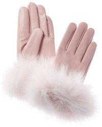 La Fiorentina Leather Gloves - Pink