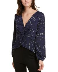 BCBGeneration Twisted Top - Blue