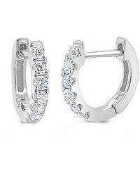Sabrina Designs 14k 0.18 Ct. Tw. Diamond Huggie Earrings - Metallic