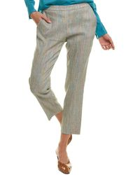 Theory Treeca Linen-blend Pant - Gray
