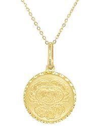 Sabrina Designs 14k Zodiac Cancer Necklace - Metallic